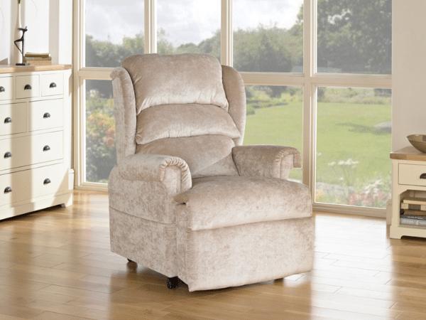 Fabric riser recliner
