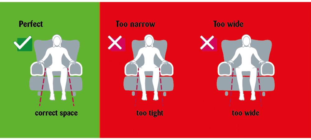 correct seat width diagrams