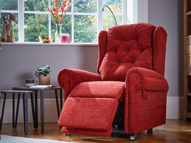 Hanbury plus red riser recliner chair