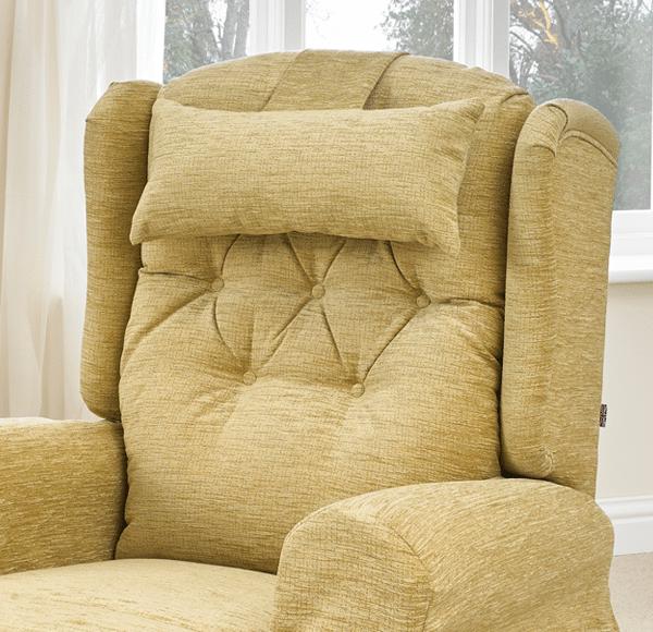 head cushion on chair