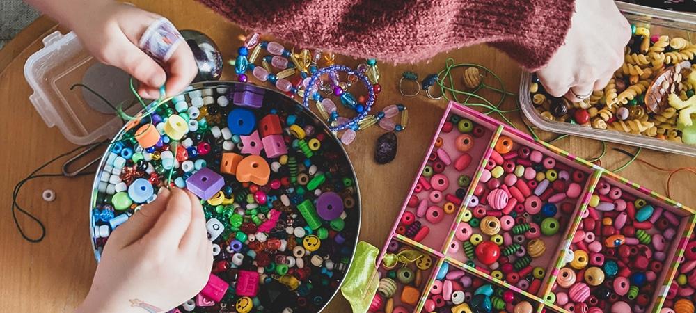 jewellery making on riser recliner