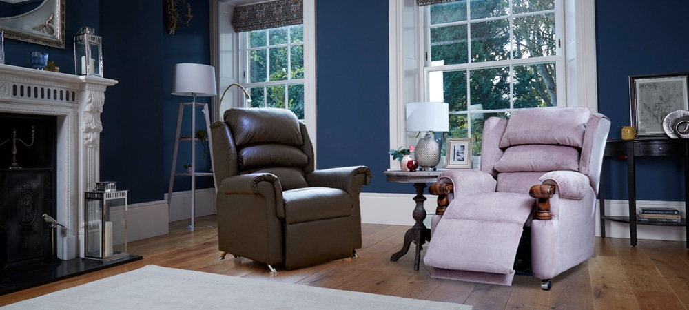 Leather vs fabric riser recliner chairs